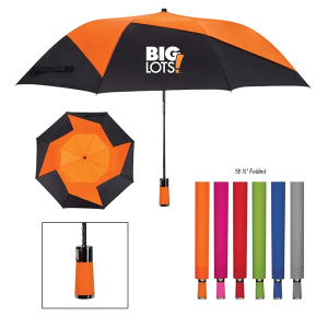 "46"" Vented Pinwheel Folding Umbrella"